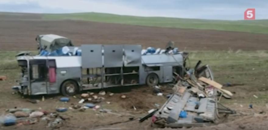 В Казахстане 11 человек погибли в результате аварии с автобусом. Фото скриншот видео 5-tv.ru