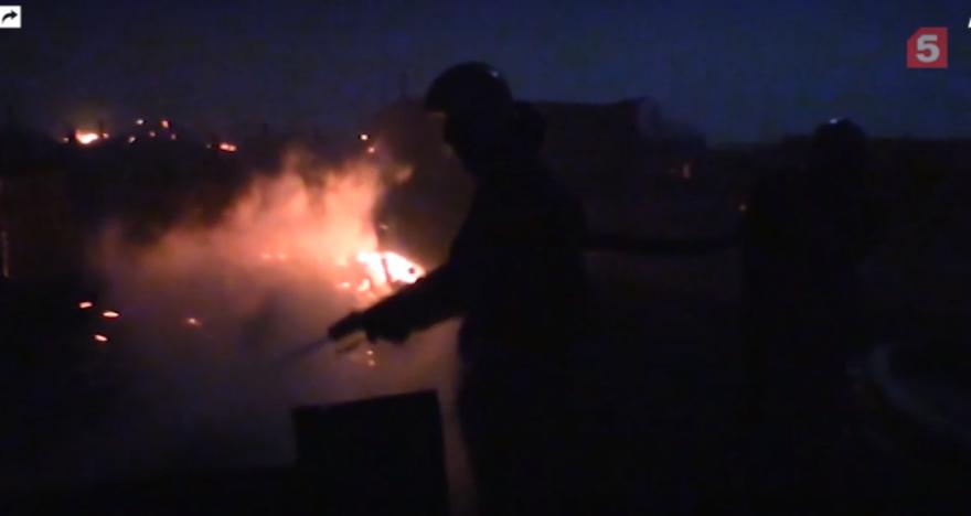 Изрегиона, где бушуют степные пожары, было эвакуировано поменьшей мере 290 человек из14 населенных пунктов вЗабайкальском крае. Фото скриншот видео 5-tv.ru
