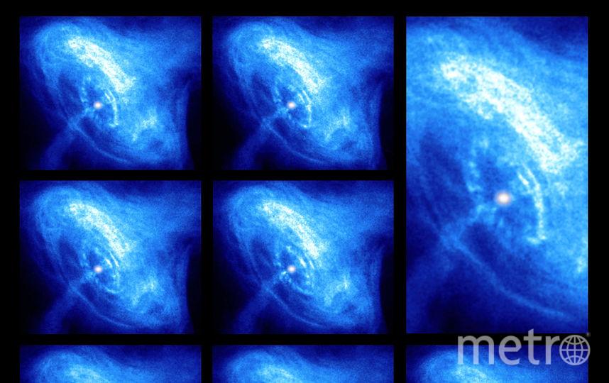 Крабовидная туманность. В центре туманности — пульсар. Фото Getty
