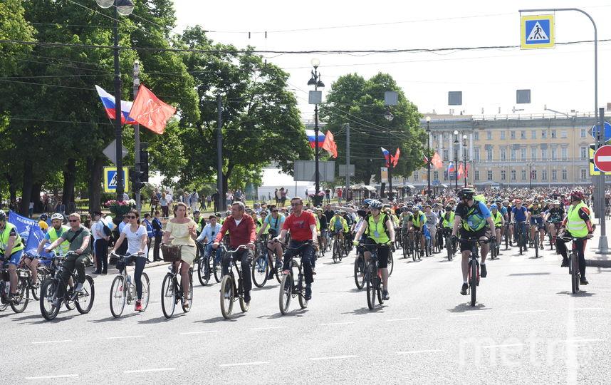 В Петербурге стартовал велосезон, фотоархив.