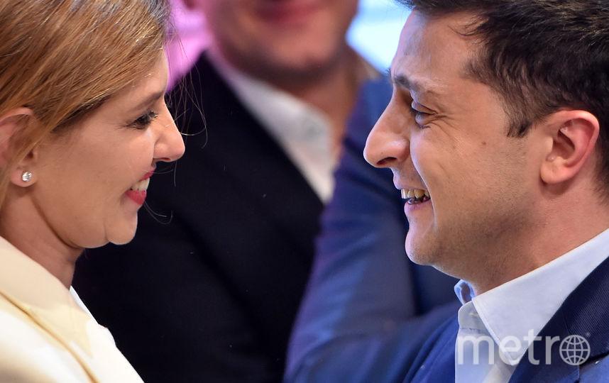 Владимир и Елена Зеленские. Фото AFP