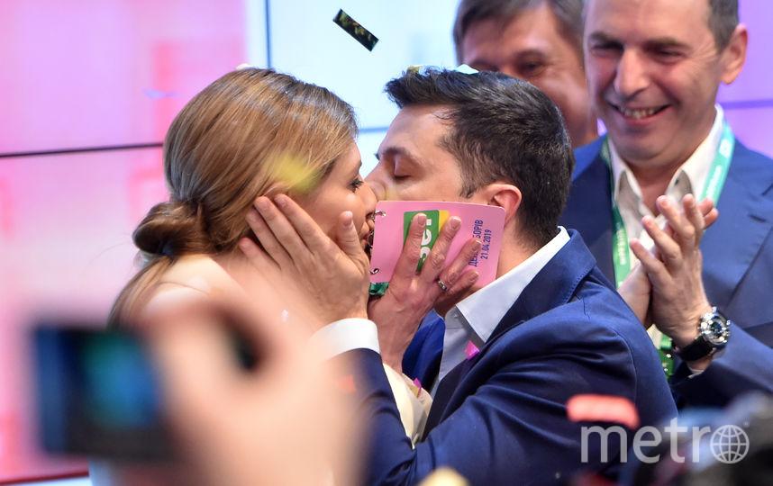 Владимир Зеленский с супругой Еленой. Фото AFP