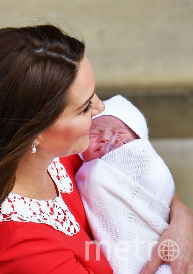 Кейт Миддлтон и новорожденный принц Луи. Фото Getty