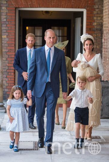 Кейт Миддлтон, принц Уильям, крещение принца Луи. Фото Getty