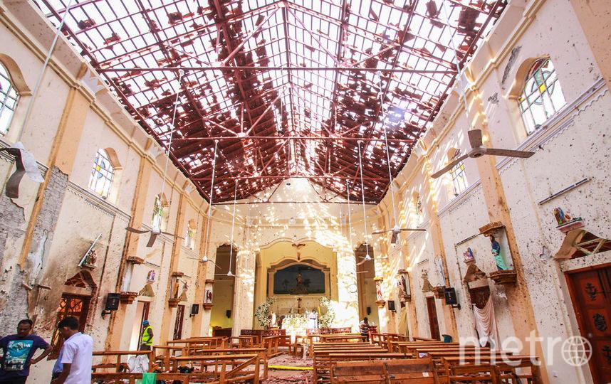 Церковь Святого Себастьяна после атаки. Фото Getty
