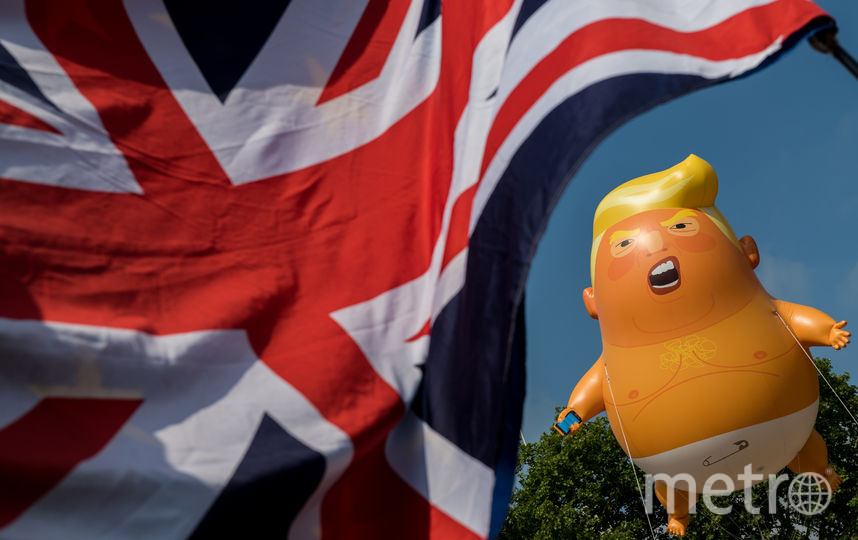 """Воздушный шар """"малыш Трамп"""" стал символом протестов. Фото Getty"""