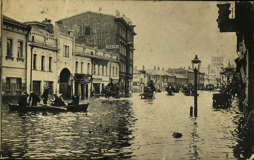 Большая Дорогомиловская улица в одночасье превратилась в венецианский канал. Фото Музей Москвы