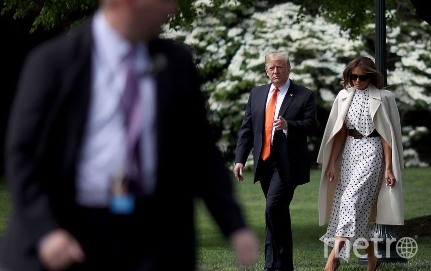 Дональд и Мелания Трамп посетили Атланту. Фото Getty