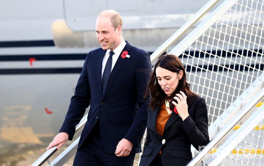 Принц Уильям прилетел из Окленда в Крайстчерч с Джасиндой Ардерн в одном самолете.. Фото Getty
