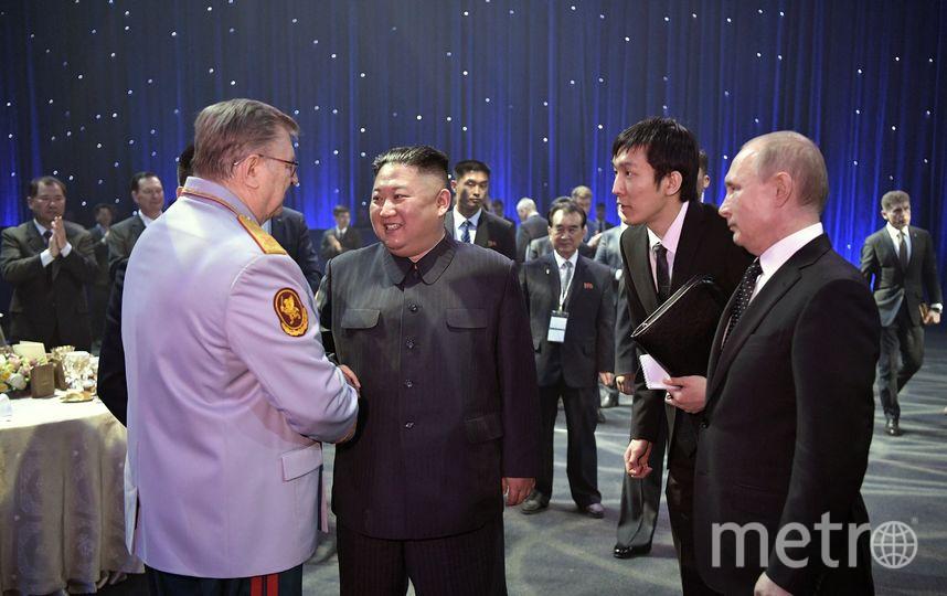 Ким Чен Ын и Владимир Путин на мероприятиях после саммита во Владивостоке. Фото AFP