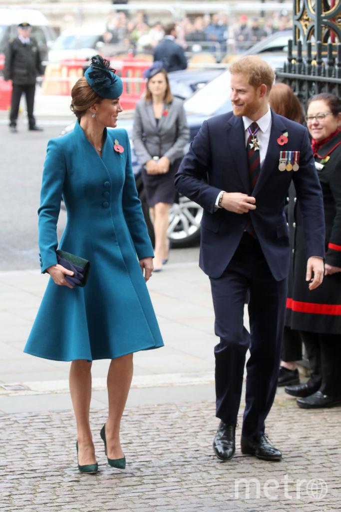 Кейт и Гарри на службе в Вестминстерском аббатстве 25 апреля. Фото Getty