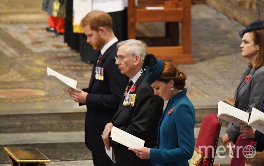 Принц Гарри и Кейт на службе. Фото Getty