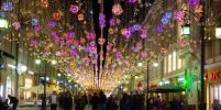 Столица встретила весну: город украсили разноцветными бабочками и фонариками