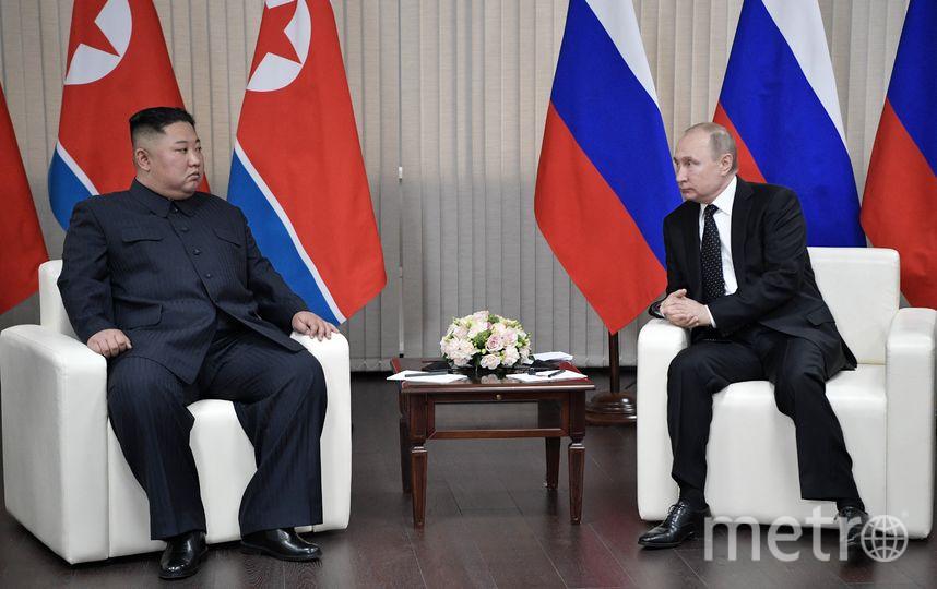 Ким Чен Ын и Владимир Путин. Фото AFP