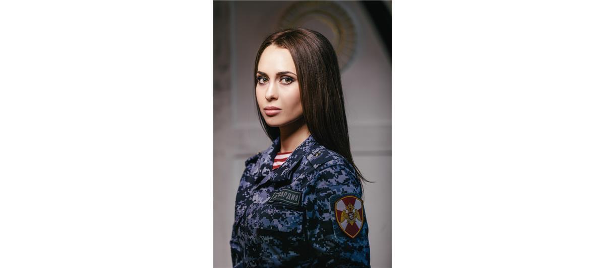 Майор полиции Асцатурова Ольга, Тула. Фото предоставлено пресс-службой Росгвардии