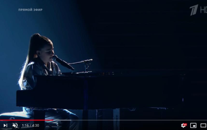 """Микелла Абрамова на шоу """"Голос.Дети"""". Фото Все - скриншот YouTube"""