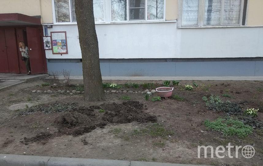 """Коммунальщики вывозят покрышки, оставляя такие зияющие ямы, в том числе из-за жалоб соседей. Фото vk.com, """"Metro"""""""