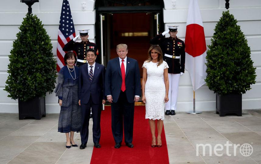 В день рождения Мелания Трамп с супругом принимали гостей из Японии. Фото Getty