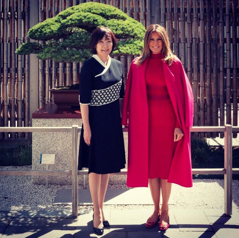 Мелания Трамп с женой Синдзо Абэ. Фото Getty