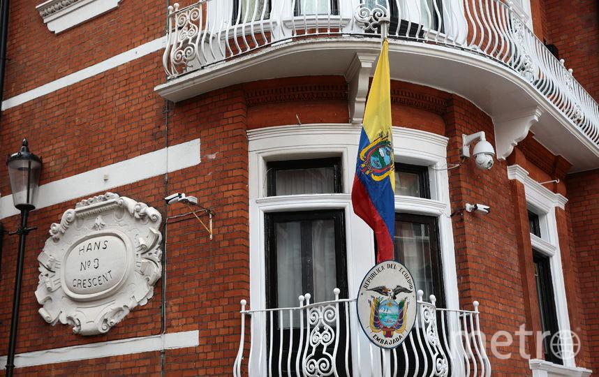 Посольство Эквадора, где скрывался Ассанж. Фото Getty