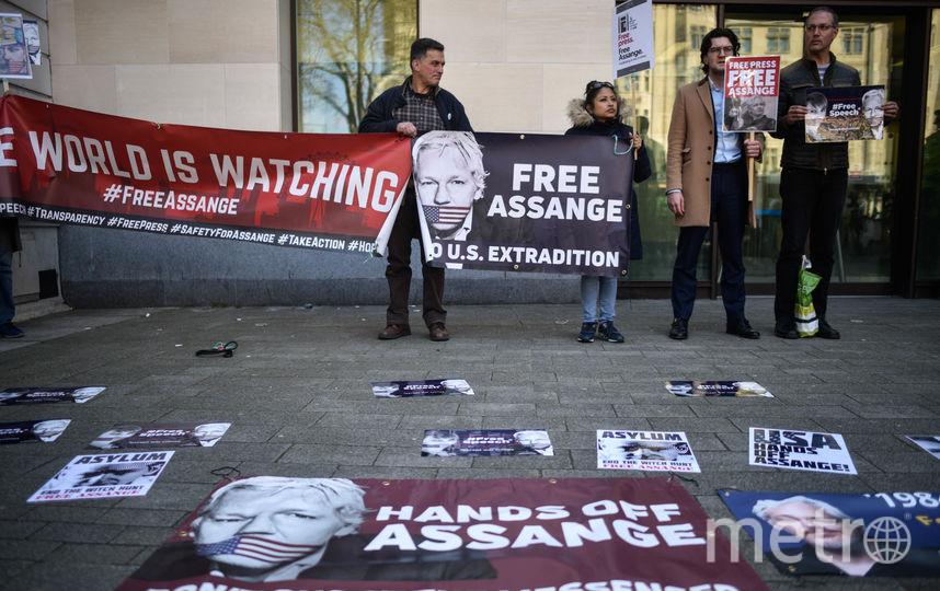 Митинги в поддержку Джулиана Ассанжа. Фото Getty