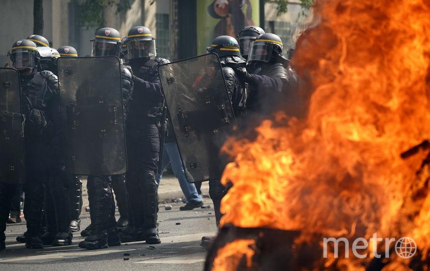 Беспорядки на улицах Парижа 1 мая. Фото Getty