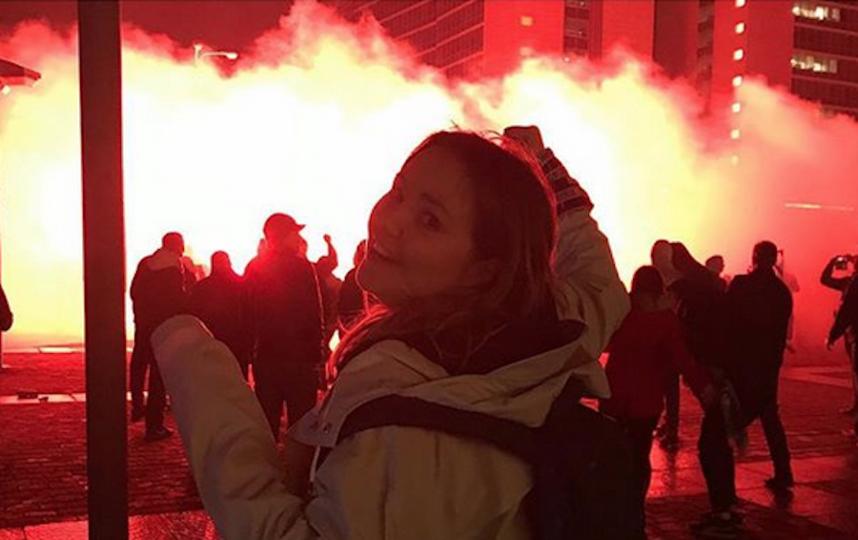 Фанаты сине-бело-голубых ярко, громко и с размахом отпраздновали победу. Фото Скриншот https://www.instagram.com/nehta/