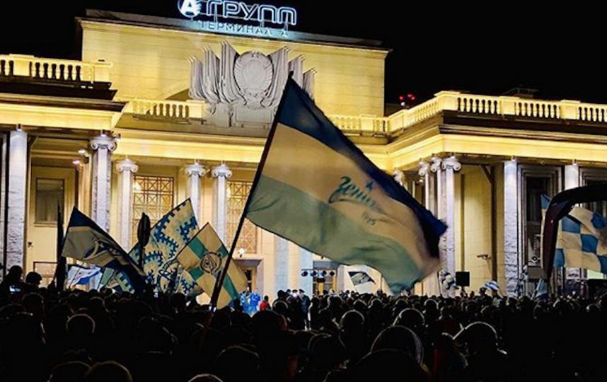 Фанаты сине-бело-голубых ярко, громко и с размахом отпраздновали победу. Фото Скриншот https://www.instagram.com/mihail_dryagin/