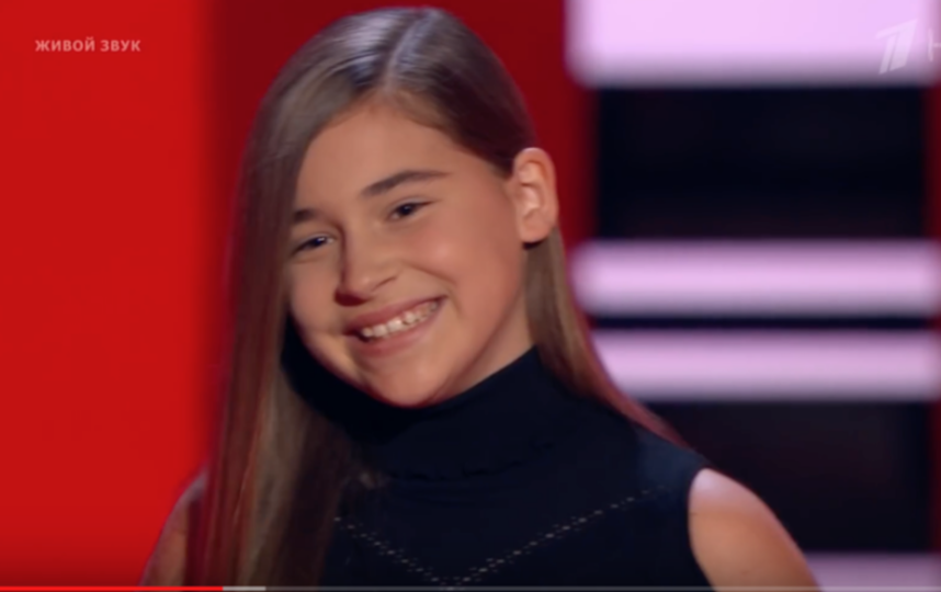 """Микелла Абрамова на шоу """"Голос.Дети"""". Фото Скриншот Youtube"""