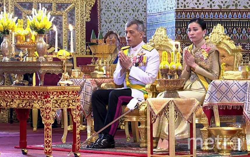 Король Таиланда Маха Вачиралонгкорн и его супруга, королева Суттхиде Ватчиралонгкон. Фото AFP