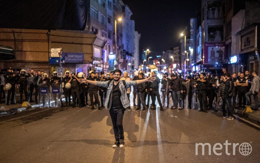 В столице Стамбула прошли протесты. Фото AFP