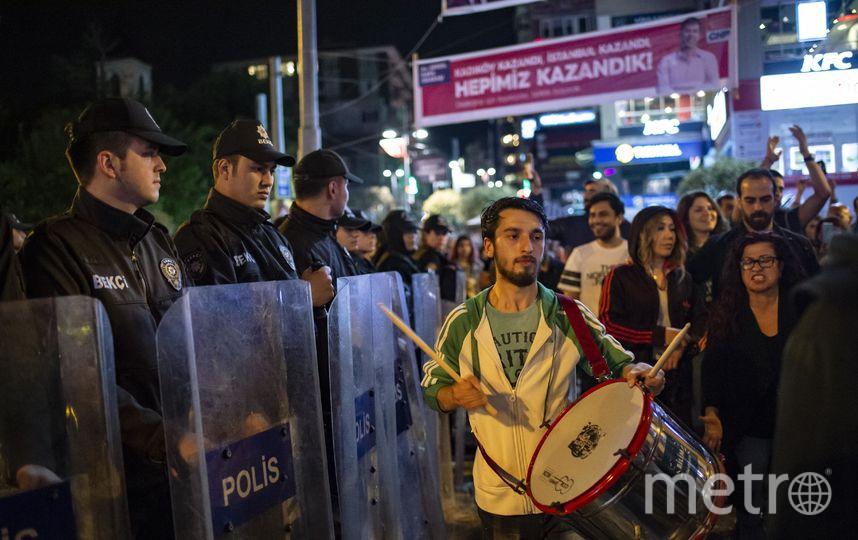 В Стамбуле прошли протесты. Фото AFP