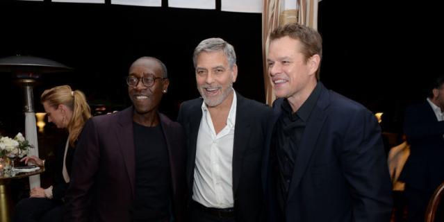 Дон Чидл, Джордж Клуни и Мэтт Деймон.