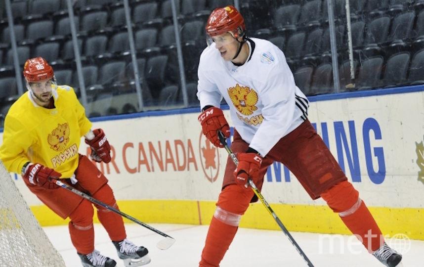 Никита Кучеров и Евгений Малкин. Фото РИА Новости