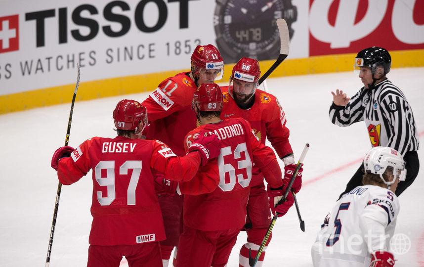 Россияне уверенно победили норвежцев в первом матче на ЧМ. Фото AFP