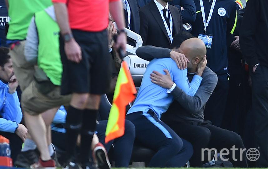 Пеп Гвардиола не сдерживал эмоции. Фото AFP