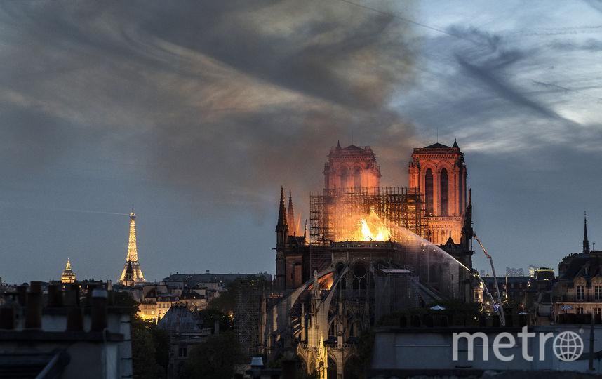 Собор Парижской Богоматери, пострадавший во время пожара. Фото Getty