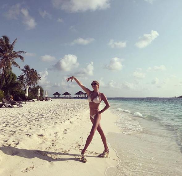 Анастасия Волочкова на Мальдивах. 2019-й год. Фото скриншот https://www.instagram.com/volochkova_art/?hl=ru
