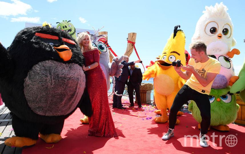 Презентация второго полнометражного мультфильма про злых птичек состоялась в Каннах. Фото Getty