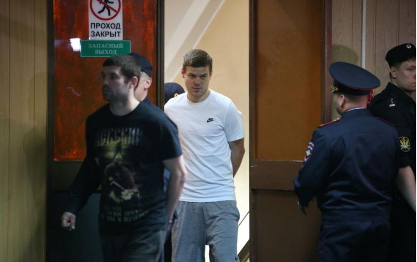"Кокорин на суде 8 мая. Фото Василий Кузьмиченок, ""Metro"""
