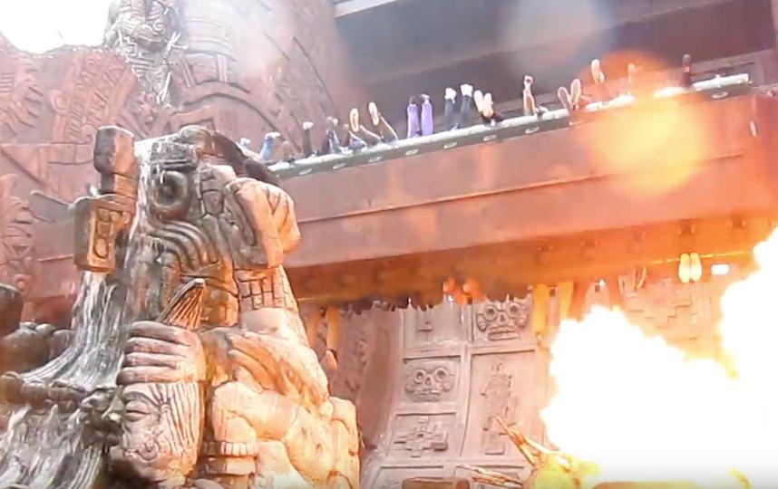 """В парке будет аттракцион """"Храм огня"""". Фото скриншот YouTube, Василий Кузьмичёнок"""