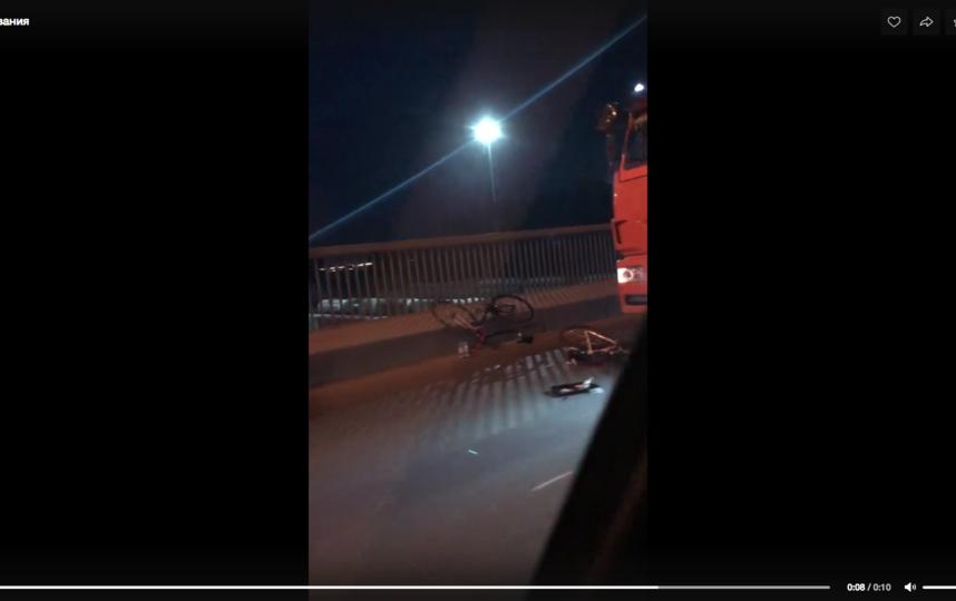 "ДТП произошло на Невском путепроводе. Фото https://vk.com/spb_today, ""Metro"""