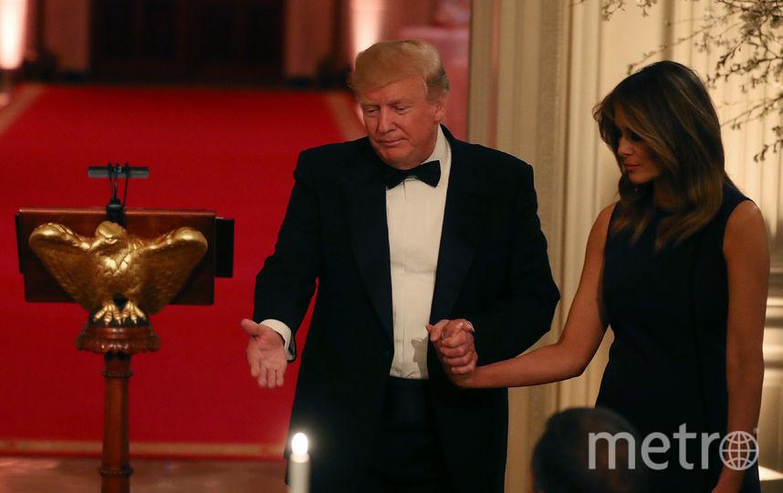 Мелания Трамп в интерьерах Белого дома. Фото Getty