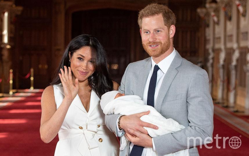 Меган Маркл, принц Гарри и Арчи. Фото AFP