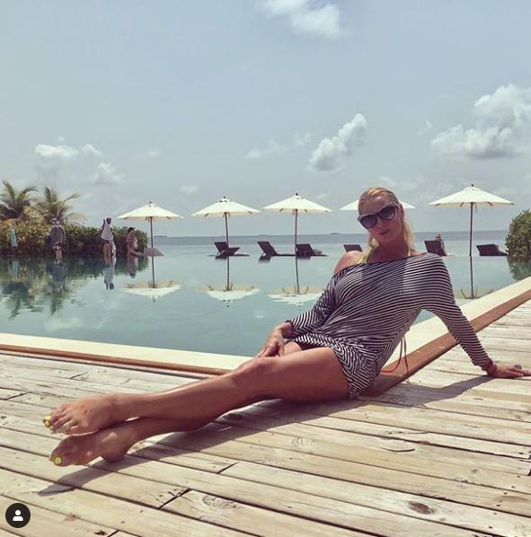Анастасия Волочкова на Мальдивах, 2019 год. Фото скриншот https://www.instagram.com/volochkova_art/?hl=ru