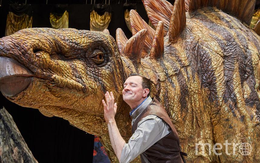 """Егор Бероев на репетиции шоу """"Прогулки с динозаврами"""". Фото  ILDAR BAKEEV ENTERTAINMENT, Предоставлено организаторами"""