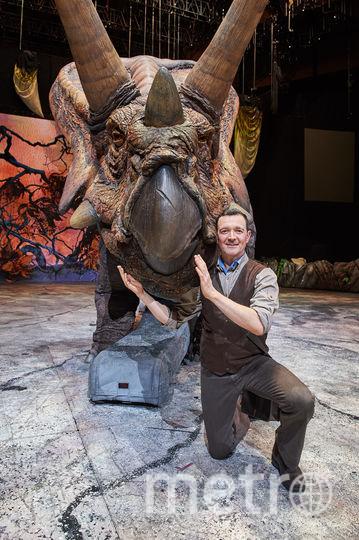 """Егор Бероев на репетиции шоу """"Прогулки с динозаврами"""". Фото  ILDAR BAKEEV ENTERTAINMENT."""