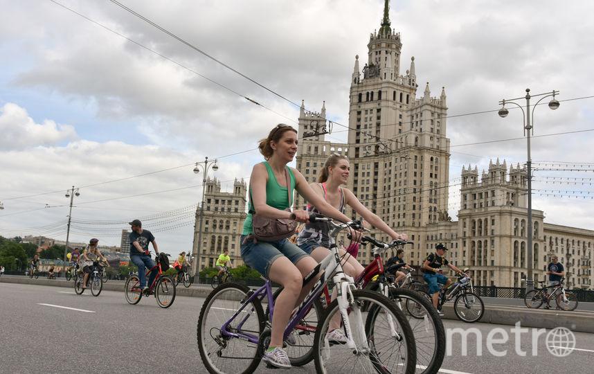 Велосипедисты в Москве. Фото Василий Кузьмичёнок