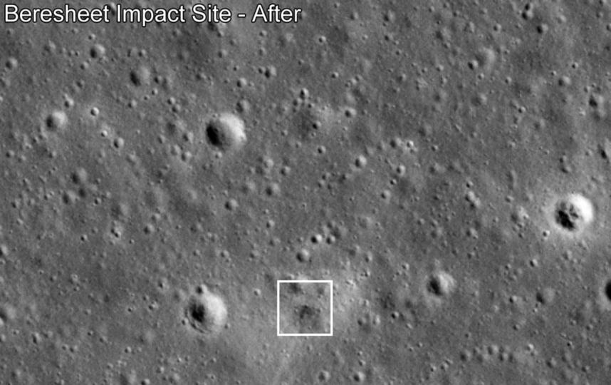 Снимки, сделанные лунным орбитальным аппаратом LRO. Фото NASA/GSFC/Arizona State University
