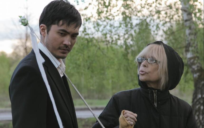 Санжар Мади и Вера Глаголева на съёмках. Фото horprod.ru